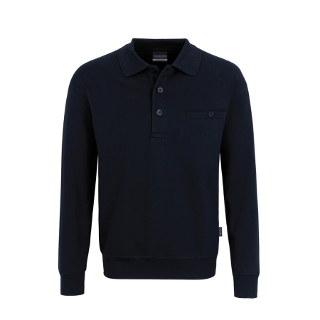HAKRO Premium   Pocket-Polo-Sweatshirt