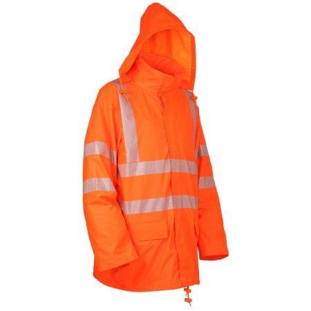 LeiKaTex | PU-Stretch-Warnschutz-Regenjacke