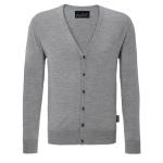 Hakro | Herren V-Pullover Cardigan Merino Wool