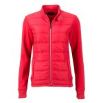 James & Nicholson | Ladies' Hybrid Sweat Jacket
