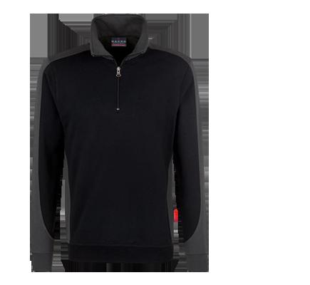 HAKRO Performance Contrast-ZIP Sweatshirt